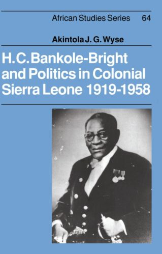 This substantial and thoroughly documented book is a political biography of an important figure in Sierra Leone. It is also a comment on two of the major themes of the country's history--the relations between the Colony (Krio Society) and the protectorate (the earlier inhabitants of the territory) and more importantly, the position of the imperial regime vis-à-vis its colonial subjects.